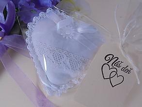 Darčeky pre svadobčanov - Svadobné srdiečka ako darček-2 (Biela) - 10328243_
