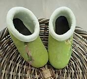 Obuv - Vysoké plstené papuče - 10330840_