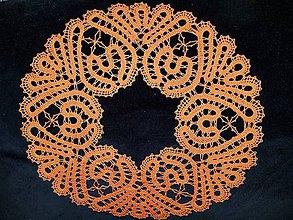 Dekorácie - paličkovaná dečka oranžová - 10330512_