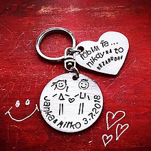 Kľúčenky - ľúbim Ťa nikdy na to nezabudni ... - 10335009_