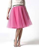 Tylová midi sukňa sladká ružová