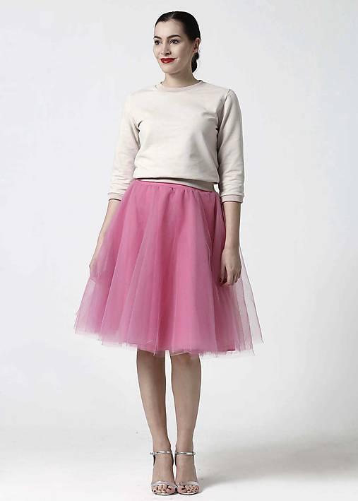 Tylová midi sukňa sladká ružová   ZuzanaZachar - SAShE.sk - Handmade ... 2b6d3f0361