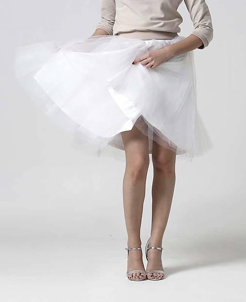 Tylová midi sukňa biela (38)   ZuzanaZachar - SAShE.sk - Handmade Sukne 7312498a76