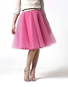 Sukne - Tylová midi sukňa sladká ružová - 10332350_