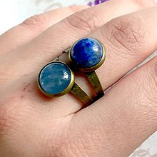Prstene - Harmony of Gemstones Ring - Lapis Lazuli & Kyanite / Prsteň Harmónia minerálov - lazurit a kyanit /1464 - 10334888_