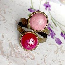 Prstene - Harmony of Gemstones Ring - Ruby & Rhodonite / Prsteň Harmónia minerálov - rubín a rodonit /1466 - 10334964_