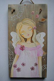 Obrazy - Anjelik v ružovom II. - 10333438_