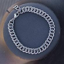 Náramky - Spojení jednobarevné - náramok (šedý) - 10333326_