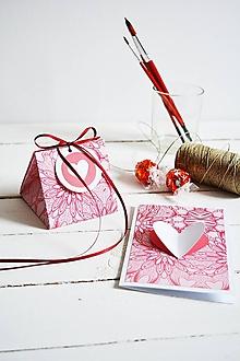 Papiernictvo - Valentínka + darčeková krabička - 10332913_