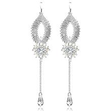 Náušnice - svadobné náušnice  MôJ SVADOBNÝ DEŇ (crystal - Ag 925) - 10334104_