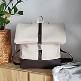 Batohy - Batoh (roll-backpack smotanovo-hnedý) - 10335296_