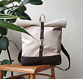 Batohy - Batoh (roll-backpack smotanovo-hnedý) - 10335297_