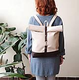 Batohy - Batoh (roll-backpack smotanovo-hnedý) - 10335298_