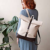 Batohy - Batoh (roll-backpack smotanovo-hnedý) - 10335299_