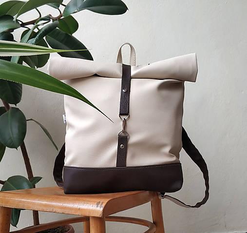 Batoh (roll-backpack smotanovo-hnedý)
