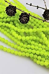 - jadeit neónový zelený korálky 8mm - 10334061_
