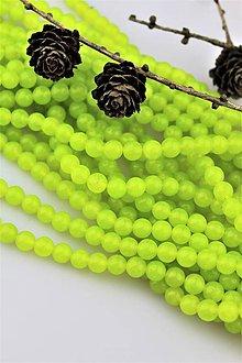 Minerály - jadeit neónový zelený korálky 8mm - 10334061_