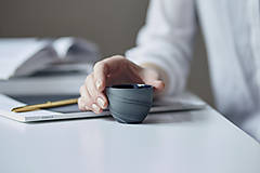 Nádoby - espresso šálka, šedá - 10333989_
