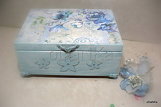 Krabičky - drevená šperkovnica Anjelská - 10333741_