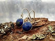 Náušnice - Náušnice lapis lazuli Ag925 - 10333196_