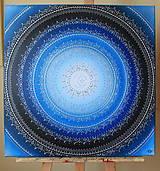 Obrazy - MESAČNÁ MANDALA (polmesiac☾) 60 x 60 - 10334658_