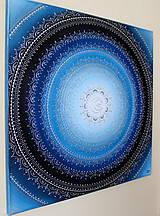 Obrazy - MESAČNÁ MANDALA (polmesiac☾) 60 x 60 - 10334659_