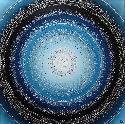 MESAČNÁ MANDALA (polmesiac☾) 60 x 60