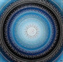 Obrazy - MESAČNÁ MANDALA (polmesiac☾) 60 x 60 - 10334656_