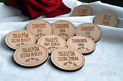 Pierka - Svadobné odznaky . Margarétka - 10333823_