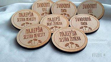 Pierka - Svadobné odznaky . Margarétka - 10333822_