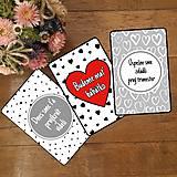 Papiernictvo - Tehotenské miľníkové kartičky 26 ks (A5)  - 10332817_