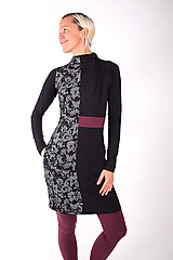 Šaty - RUE CAMBON... mix dress - 10334857_