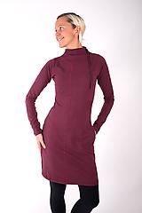 Šaty - RUE CAMBON... burgundy dress - 10334871_