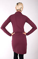 Šaty - RUE CAMBON... burgundy dress - 10334872_