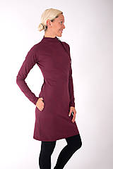 Šaty - RUE CAMBON... burgundy dress - 10334873_