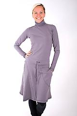 Šaty - PLACE DU CARROUSEL... grey dress - 10334891_