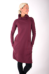 Šaty - RUE DU JOUR... burgundy dress - 10334984_