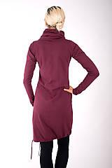 Šaty - RUE DU JOUR... burgundy dress - 10334985_