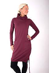 Šaty - RUE DU JOUR... burgundy dress - 10334986_