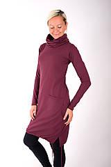 Šaty - RUE DU JOUR... burgundy dress - 10334987_