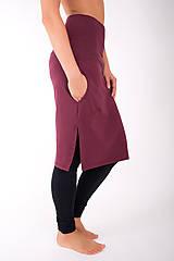 Sukne - RUE SAINT-FLORENTIN... burgundy skirt - 10335048_