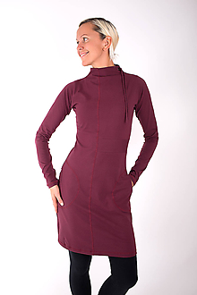 Šaty - RUE CAMBON... burgundy dress - 10334871_