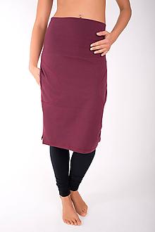 Sukne - RUE SAINT-FLORENTIN... burgundy skirt - 10335049_