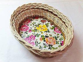 Košíky - Košík s ružami - 10334962_