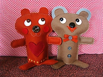 Bábiky - Zamilovaní (Maco Vinco a medvedica Milica) - 10333127_