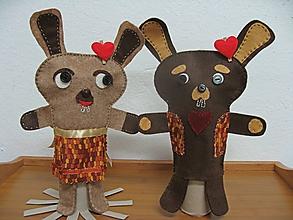 Bábiky - Nesmelí (Zajo Jojo a zajačica Jojka) - 10332827_