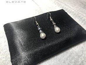 Náušnice - Pearl & Opal Earrings / Náušnice s prírodným Opálom a Perlou - 10335189_