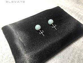 Náušnice - Larimar Earrings / Náušnice s prírodným Larimarom - 10335213_