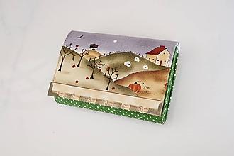 Peňaženky - Na chaloupce v horách - peněženka i na karty - 10332151_