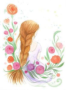 Obrázky - Pôvab ženy, nežná maľba - 10333818_